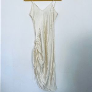 House of CB satin rouched slip dress